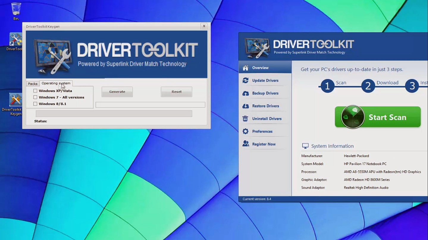 driver toolkit 8.5 serial